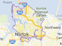 Norfolk Virginia Map Houses
